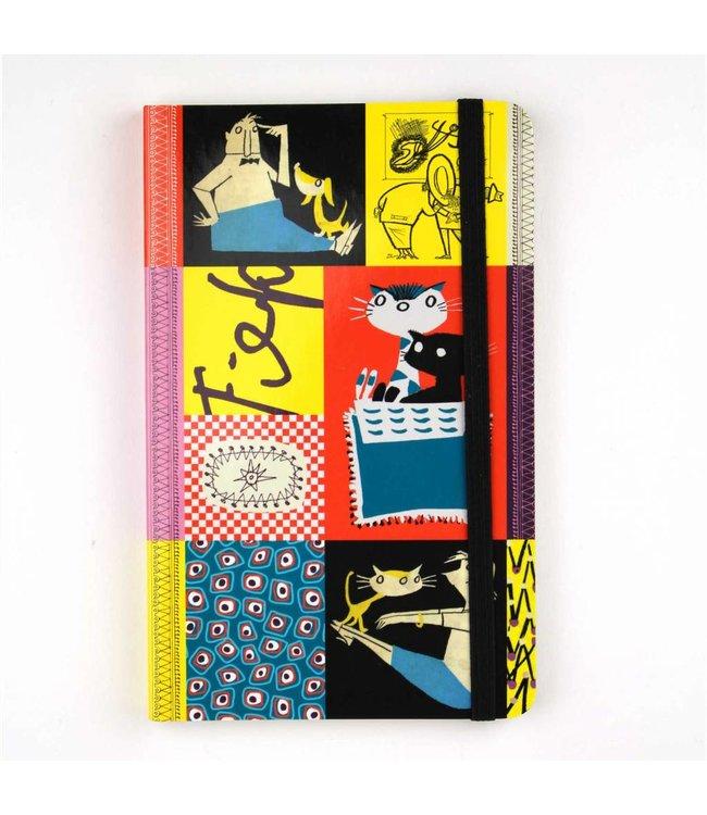 Bekking & Blitz Notitieboekje A6, 'Colourful Fifties'