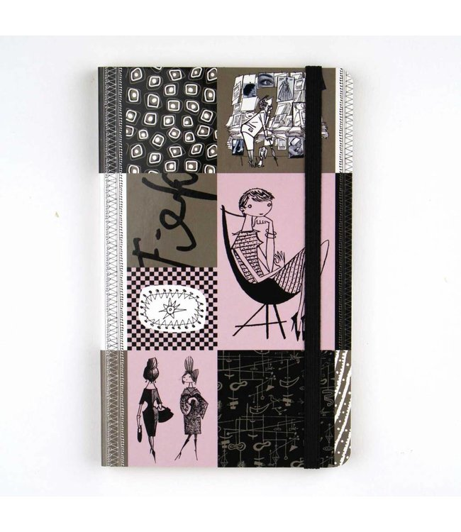 Softcover Notebook A6,  'Graphite' - Fiep Westendorp
