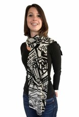 Knits For Your Inspiration Shawl 'Women guide to Europe', Large - Fiep Westendorp