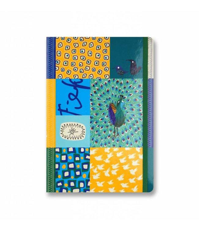 Bekking & Blitz Softcover Notebook A5, 'Peacock'