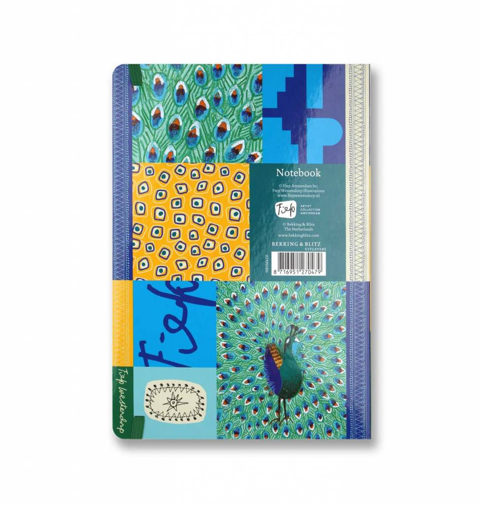 Bekking & Blitz Fiep Westendorp Softcover Notebook A5, 'Peacock'