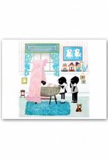 Art Unlimited Jip en Janneke Poster, Jip en Janneke staan bij een pasgeboren meisje, 30 x 40 cm