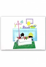 Art Unlimited Jip en Janneke Poster: Jip en Janneke are playing in a box. 30 x 40 cm