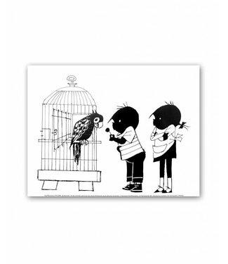 Jip en Janneke Poster, 'Parrot', 30 x 40 cm