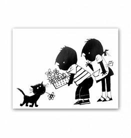 Art Unlimited Jip en Janneke Poster, 'Siepie met bloem', 30 x 40 cm
