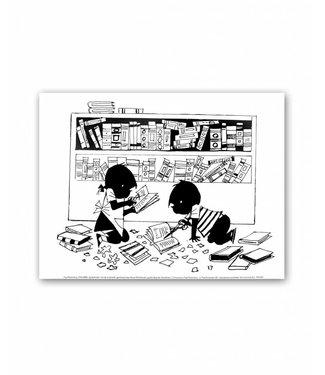 Jip en Janneke Poster, 'Plaatjes knippen', 30 x 40 cm