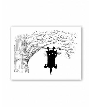 Poster, 'Siepie aan een tak', 30 x 40 cm