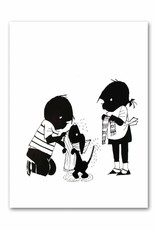 """Art Unlimited Jip en Janneke poster """"Takkie afdrogen"""". 50 x 67 cm"""