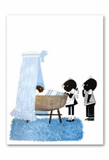 "Art Unlimited Jip en Janneke poster, blue, ""Cradle"", 50 x 67 cm"