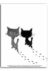 Art Unlimited Pim and Pom Poster, 'Walking Away', 30 x 40 cm