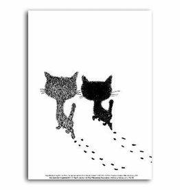 Art Unlimited Pim & Pom Poster: Pim en Pom lopen weg