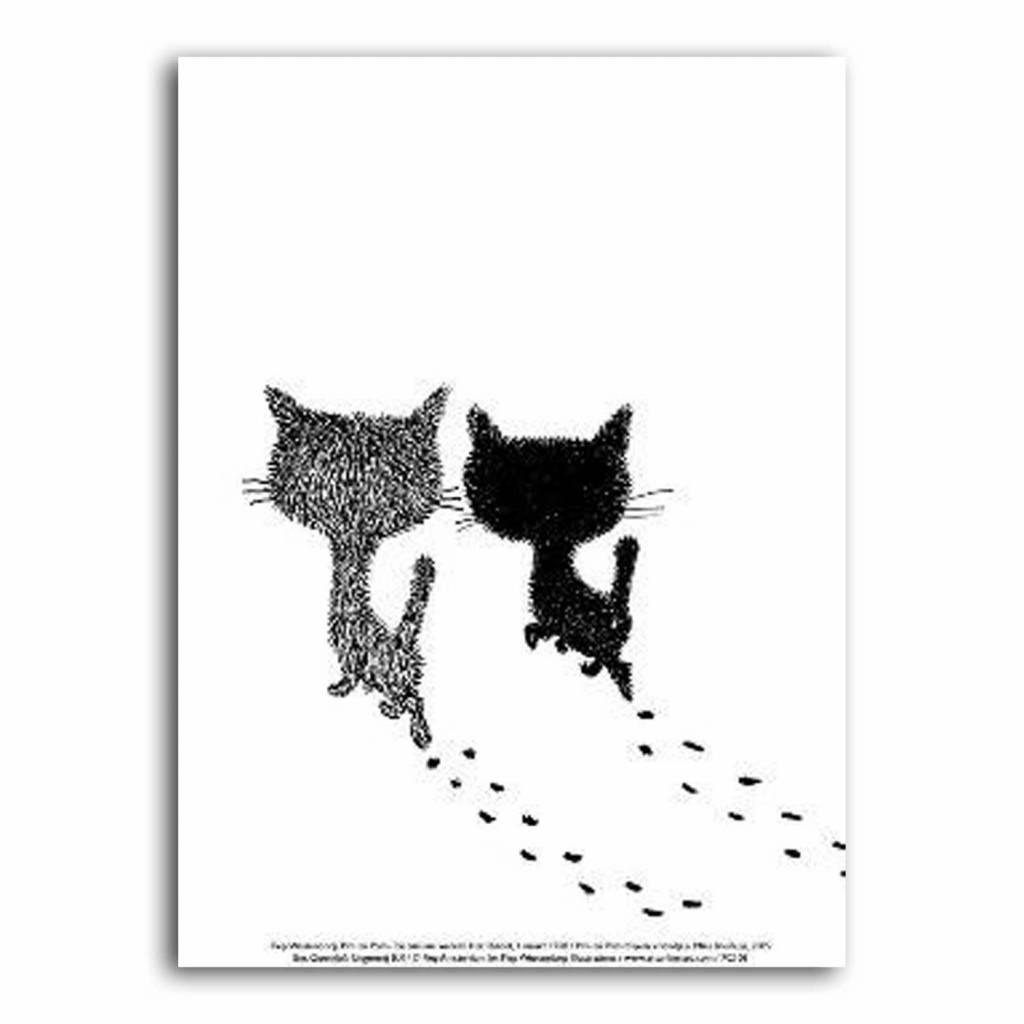 Art Unlimited Pim en Pom Poster, Pim en Pom lopen weg, 30 x 40 cm