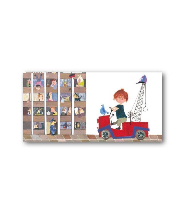 'Pluk in Tow-Truck' XXL Card, Fiep Westendorp