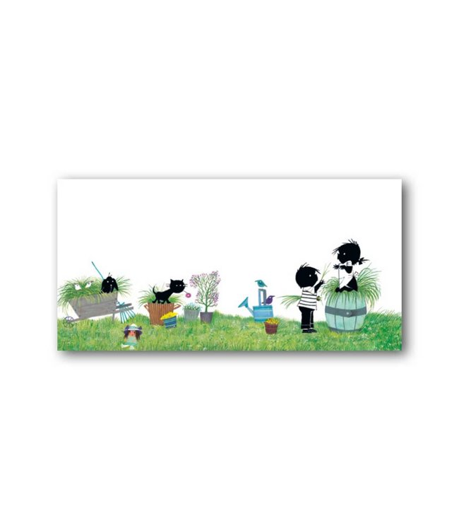 'Jip and Janneke in the garden' XXL Card, Fiep Westendorp