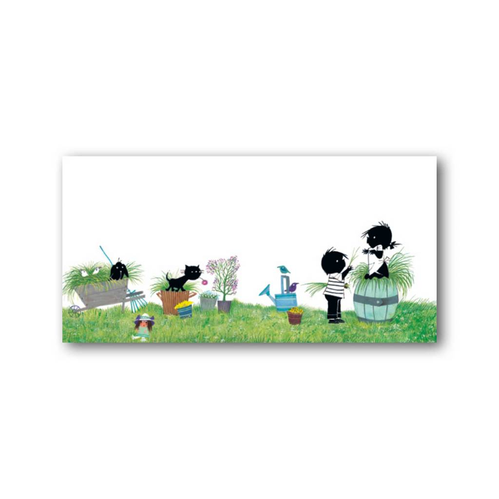Bekking & Blitz 'Jip and Janneke in the garden' XXL Card, Fiep Westendorp