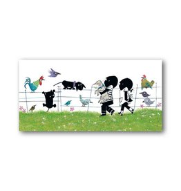 Bekking & Blitz 'Jip and Janneke with animals' XXL Card