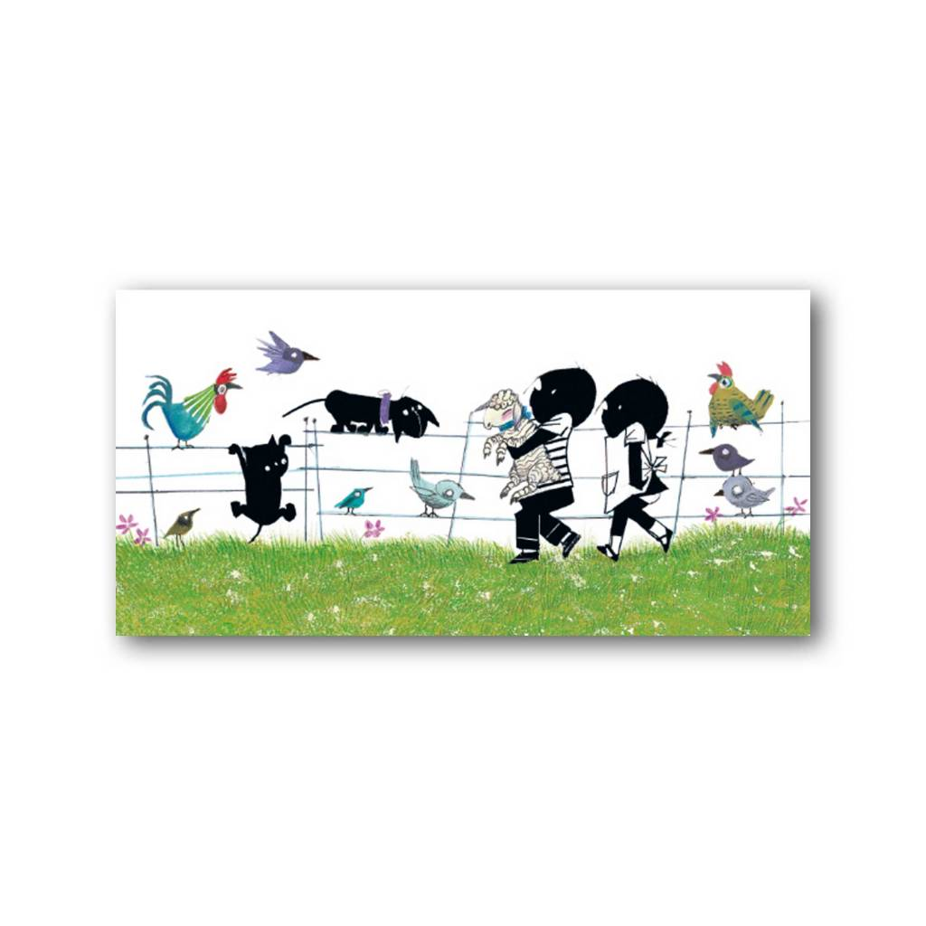 Bekking & Blitz 'Jip and Janneke with animals' XXL Card, Fiep Westendorp