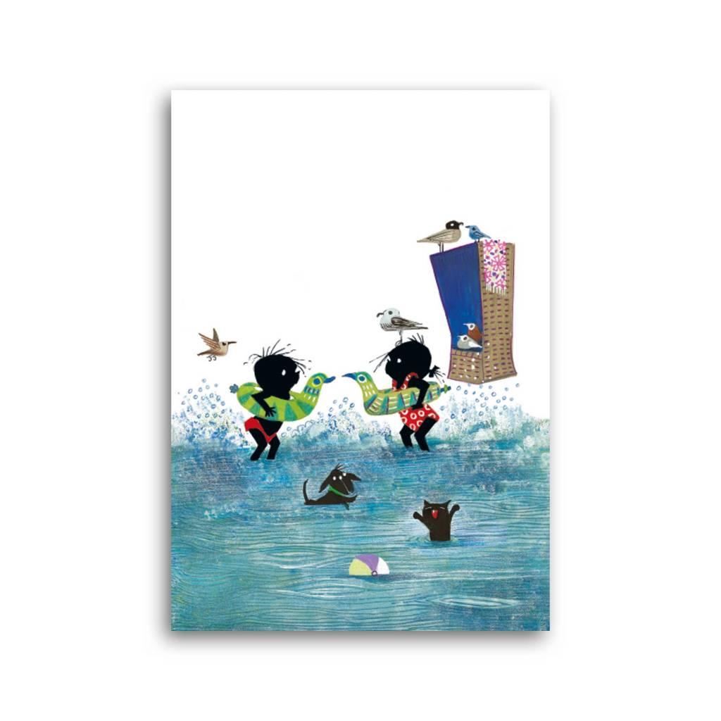 Bekking & Blitz 'Jip and Janneke in the water' Single Card, Fiep Westendorp