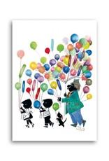 Bekking & Blitz 'Jip and Janneke with balloons' Single Card, Fiep Westendorp