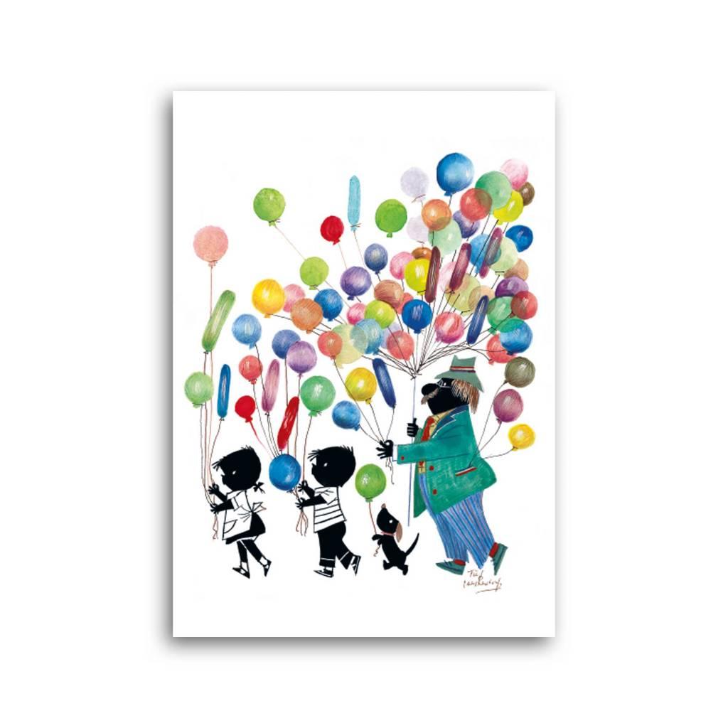 Bekking & Blitz 'Jip & Janneke met ballonnen' Enkele Kaart, Fiep Westendorp