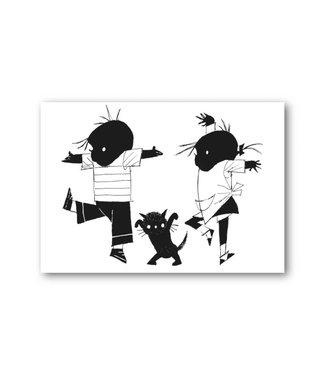 Bekking & Blitz 'Jip and Janneke dancing' Single Card