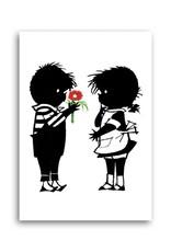 Bekking & Blitz 'Jip gives a flower to Janneke' Single Card, Fiep Westendorp