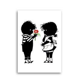 Bekking & Blitz 'Jip geeft Janneke een bloem' Enkele Kaart