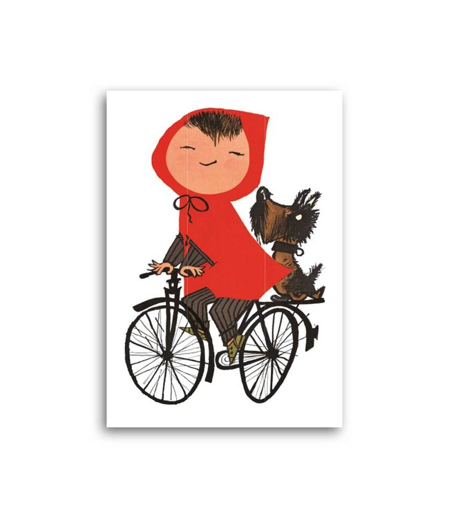 'Girl on Bicycle' Single Card, Fiep Westendorp