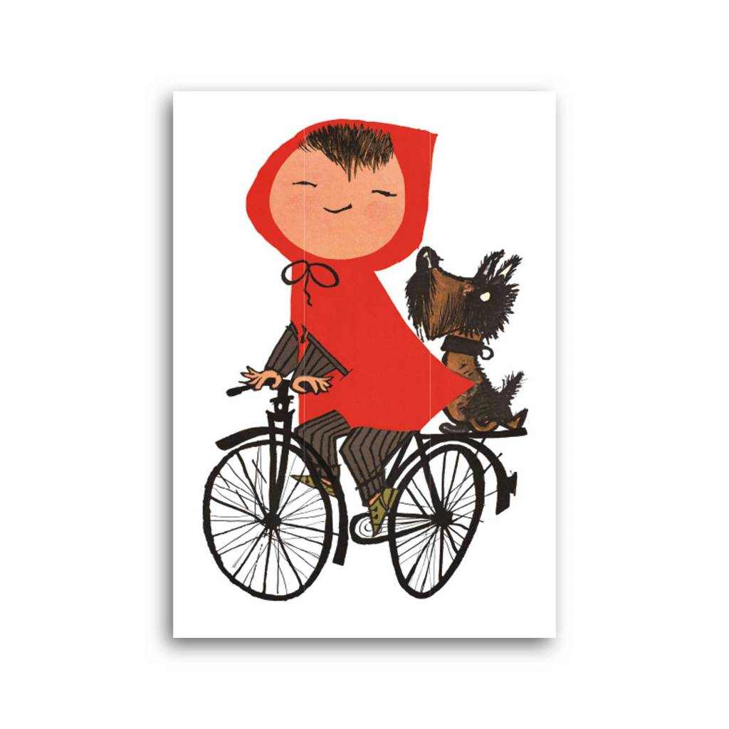 Bekking & Blitz 'Girl on Bicycle' Single Card, Fiep Westendorp