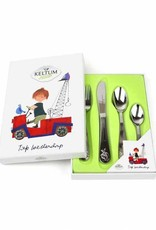 Keltum Children's Cutlery 'The Red Tow Truck', set of 4