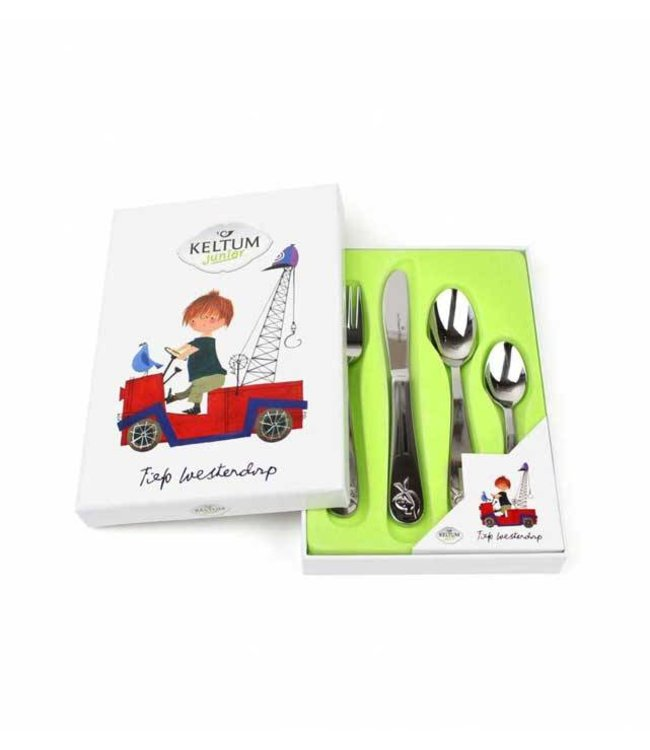 Children's Cutlery 'The Red Tow Truck', set of 4