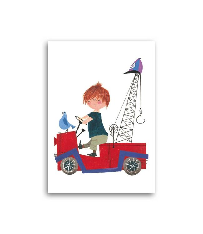 'Pluck in Tow-Truck' Single Card, Fiep Westendorp