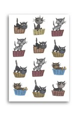 Bekking & Blitz 'Cat Baskets' Single Card, Fiep Westendorp