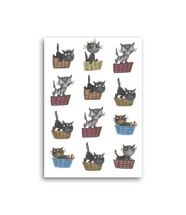 Bekking & Blitz 'Cat Baskets' Single Card