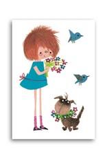 Bekking & Blitz 'Floddertje with bouquet' Single Card, Fiep Westendorp