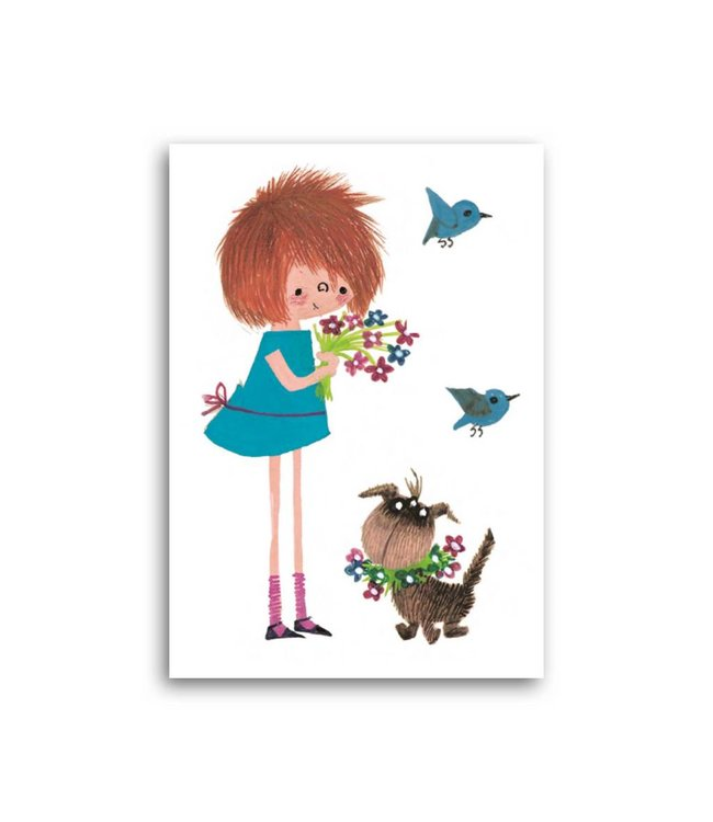 'Floddertje with bouquet' Single Card, Fiep Westendorp