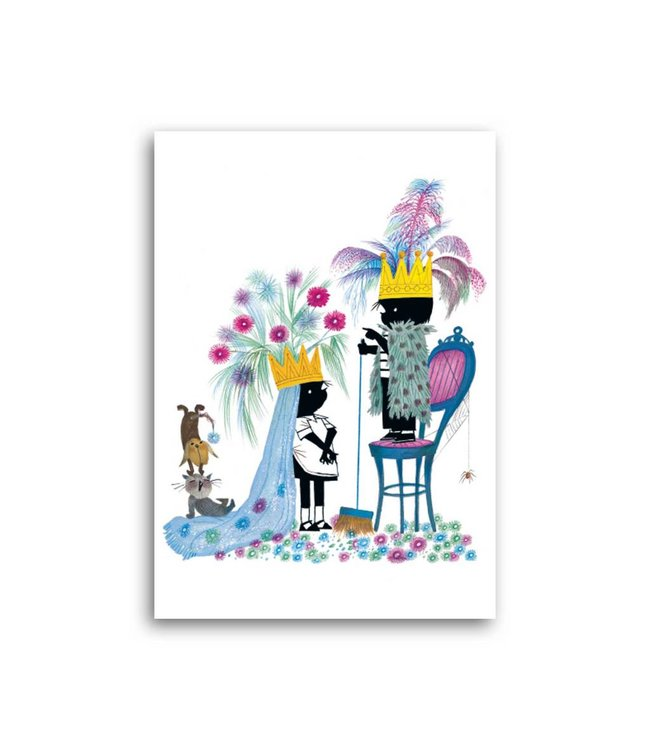 'Jip and Janneke as King and Queen' Single Card, Fiep Westendorp