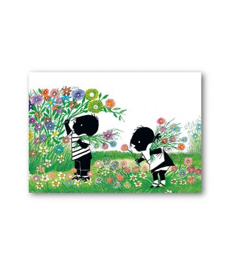 Bekking & Blitz 'Jip and Janneke picking flowers' Single Card