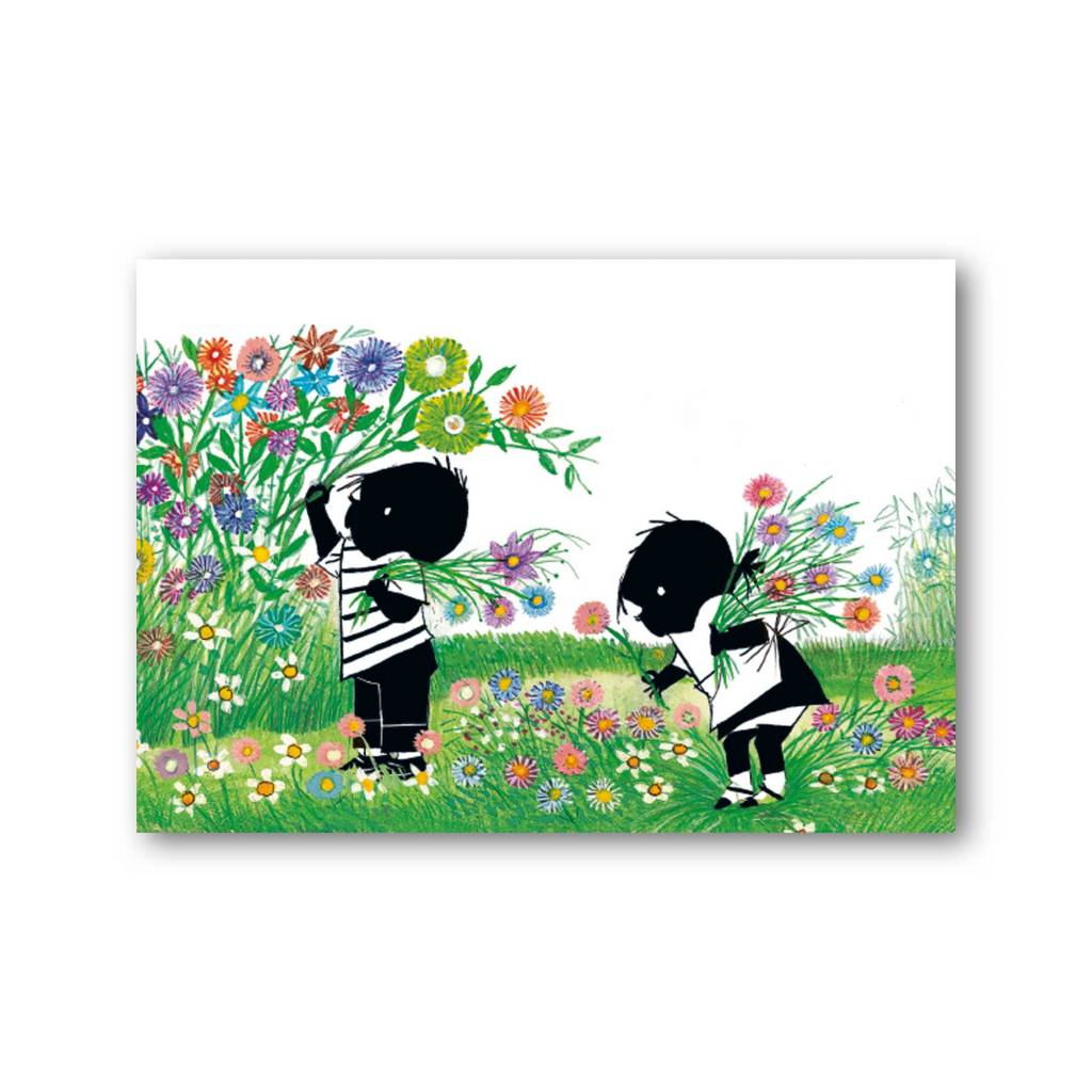 Bekking & Blitz 'Jip and Janneke picking flowers' Single Card, Fiep Westendorp