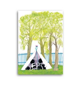 Bekking & Blitz 'Jip & Janneke in a wigwam' Single Card