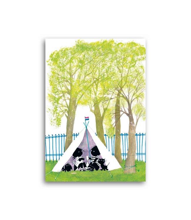 'Jip & Janneke in a wigwam' Single Card, Fiep Westendorp