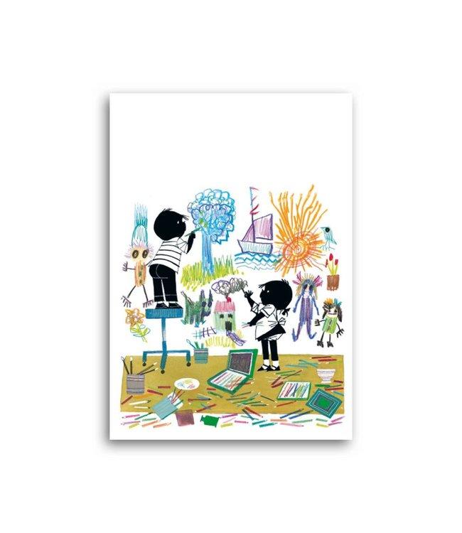 'Jip and Janneke coloring' Single Card, Fiep Westendorp
