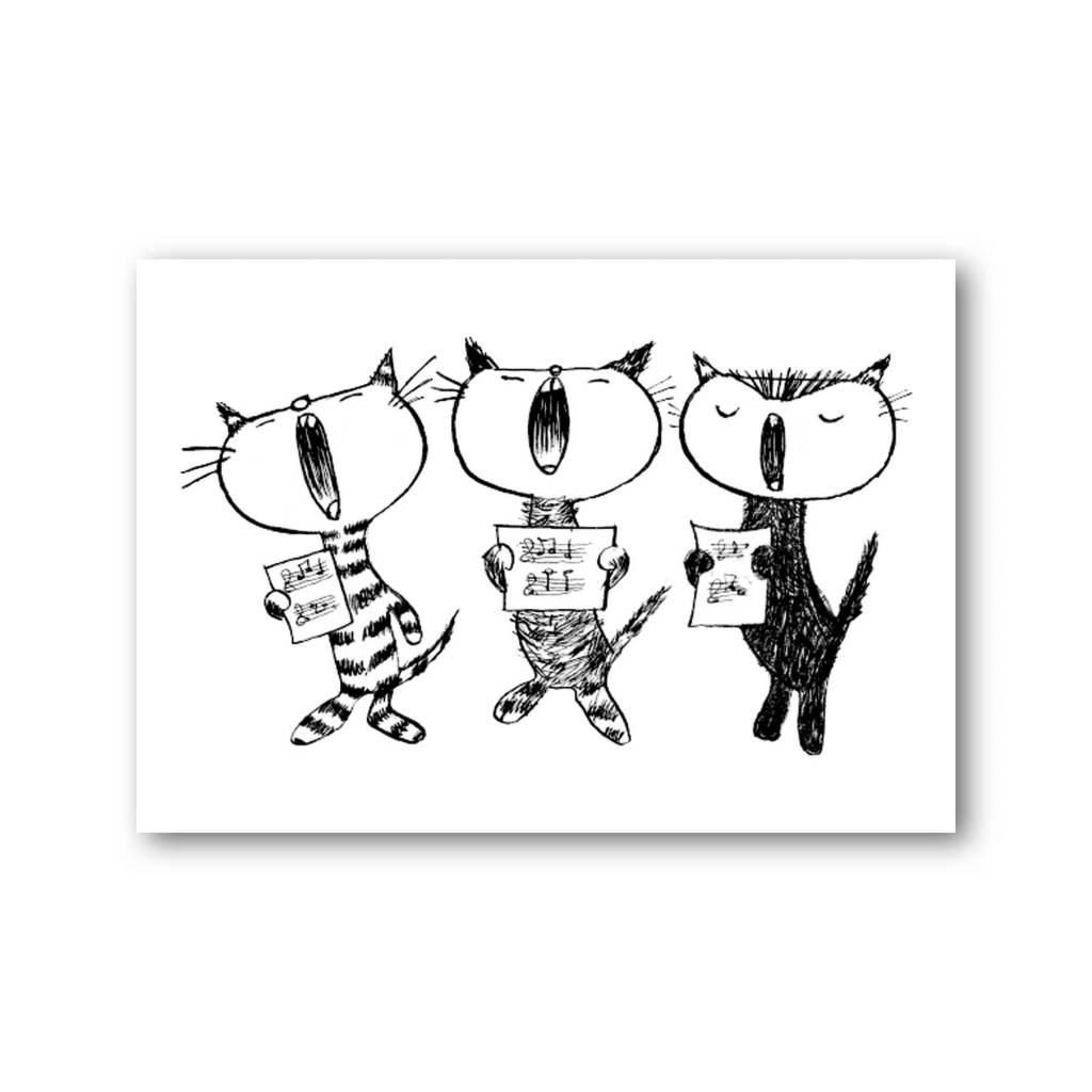 Bekking & Blitz 'Cat Party 2' Single Card, Fiep Westendorp