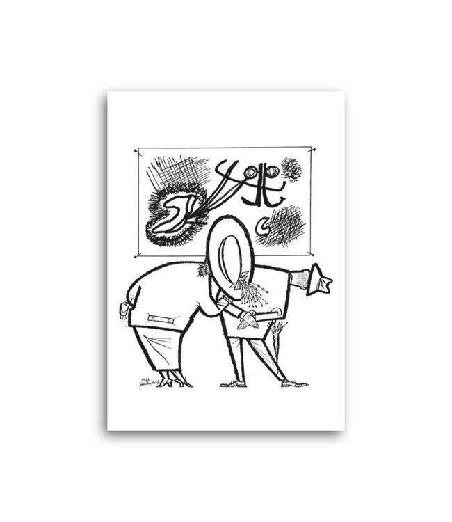 'People in a museum' Single Card, Fiep Westendorp