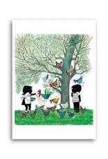 Bekking & Blitz 'Jip and Janneke feeding the chicken' Single Card, Fiep Westendorp