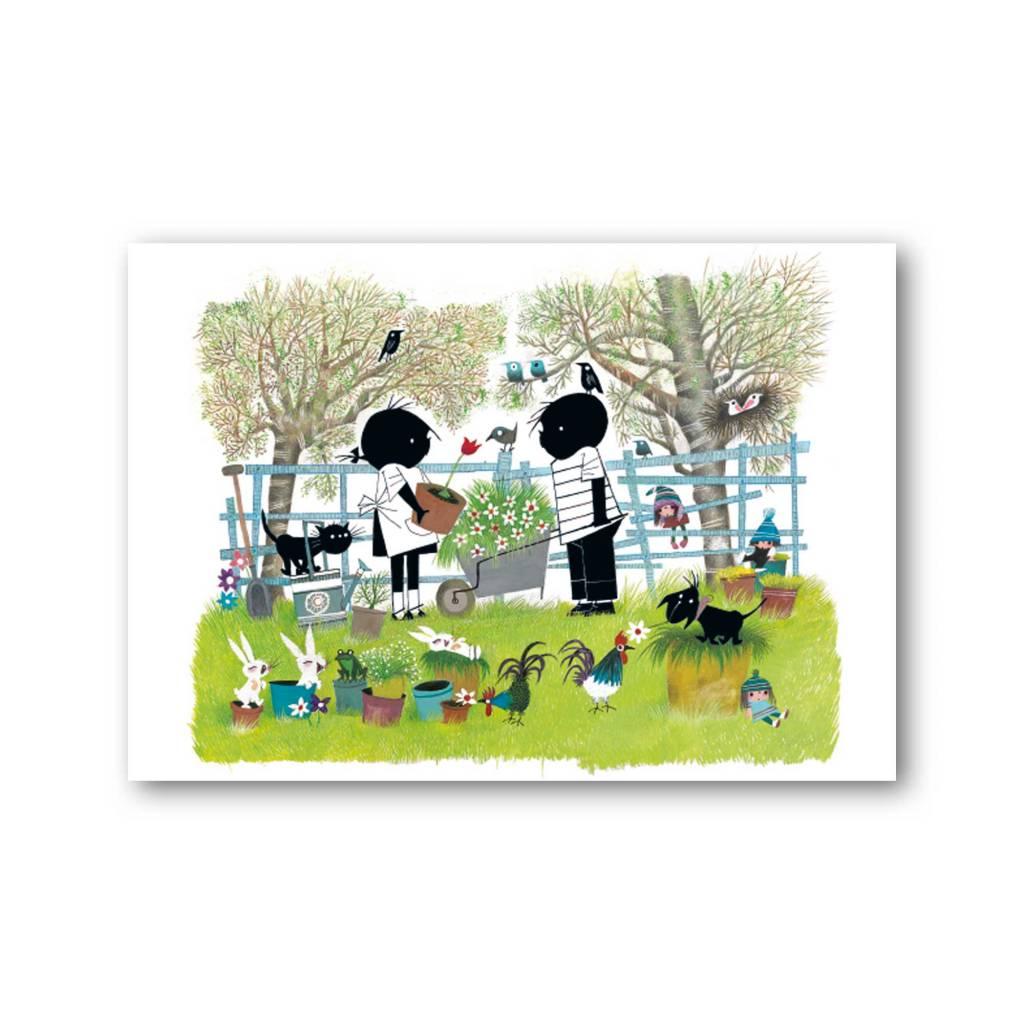 Bekking & Blitz 'Jip and Janneke in the garden' Single Card, Fiep Westendorp
