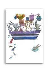 Bekking & Blitz 'Konijnen in een boot' Enkele Kaart, Fiep Westendorp