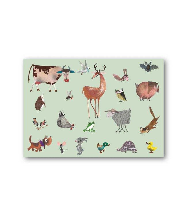 'Animals' Single Card, Fiep Westendorp