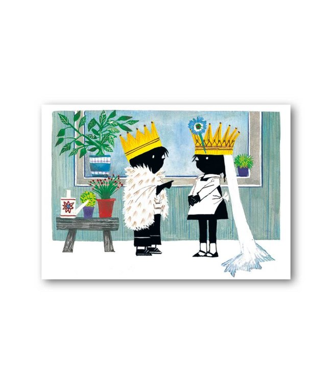 'Jip and Janneke as the King and Queen' Single Card, Fiep Westendorp