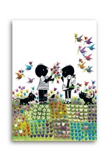 Bekking & Blitz 'Jip and Janneke in a flower meadow' Single Card, Fiep Westendorp